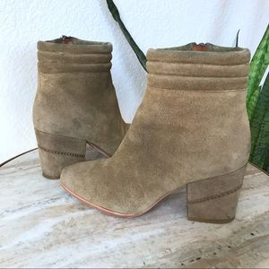 Rebecca Minkoff Tan Suede Heeled Boot size 5